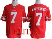 mens nfl San Francisco 49ers #7 Colin Kaepernick red elite jersey