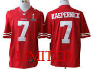 mens nk 2013 superbowl nfl San Francisco 49ers #7 Colin Kaepernick red limited jersey