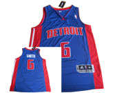 Mens Nba Detroit Pistons #6 Smith Blue Jersey(m)