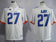 Mens Ncaa Nfl Boise State Broncos #27 Ajayi White Jersey Gz