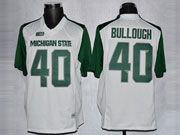 Mens Ncaa Nfl Michigan State Spartans #40 Bullough White Jersey Gz