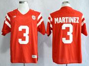 Mens Ncaa Nfl Nebraska Cornhuskers #3 Martinez Red Jersey Gz