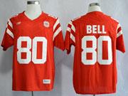 Mens Ncaa Nfl Nebraska Cornhuskers #80 Bell Red Jersey Gz