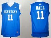 Mens Ncaa Nba Kentucky Wildcats #11 John Wall Blue Jersey Gz