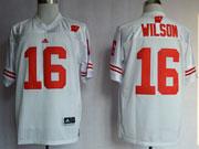 Mens Ncaa Nfl Wisconsin Badgers #16 Wilson White Jersey Gz