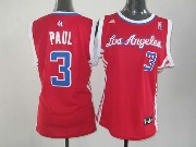 Women  Nba Los Angeles Clippers #3 Paul Red Jersey