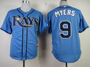 Mens mlb tampa bay rays #9 myers light blue Jersey