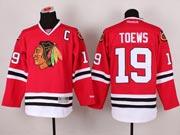 Mens reebok nhl chicago blackhawks #19 toews red c patch (2014 new) Jersey
