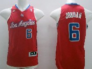 Mens Nba Los Angeles Clippers #6 Jordan Red (blue Number) Jersey