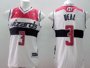 Mens Nba Washington Wizards #3 Beal White (red Number) Jersey