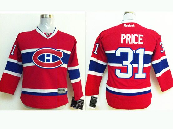 youth reebok nhl Montreal Canadiens #31 Carey Price red (ch) jersey