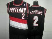 Mens Nba Portland Trail Blazers #2 Matthews Black Mesh Jersesy