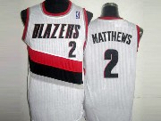 Mens Nba Portland Trail Blazers #2 Matthews White Mesh Jersesy