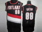 Mens Nba Portland Trail Blazers #88 Batun Black Mesh Jersesy