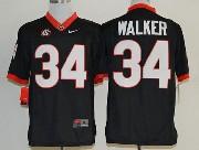 Mens Ncaa Nfl Georgia Bulldogs #34 Walker Black Sec Limited Jersey