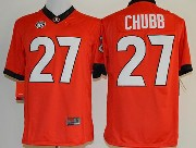 Mens Ncaa Nfl Georgia Bulldogs #27 Chubb Red Sec Limited Jersey