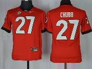 Youth Ncaa Nfl Georgia Bulldogs #27 Chubb Red Sec Limited Jersey