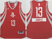 Mens Nba Houston Rockets #13 James (2014 New Christmas) Red Jersey