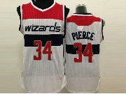 Mens Nba Washington Wizards #34 Prerce White (red Number) Jersey (m)