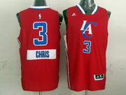 Mens Nba Los Angeles Clippers #3 Chris (2014 New Christmas) Red Jersey