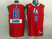 Mens Nba Los Angeles Clippers #6 Deandre (2014 New Christmas) Red Jersey