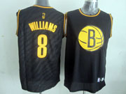 Mens Nba Brooklyn Nets #8 Williams Black Precious Metals Fashion Swingman Jersey
