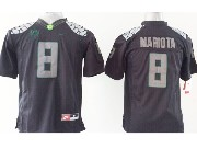 Youth Ncaa Nfl Oregon Ducks #8 Mariota Black (gray Number) Limited Jersey