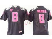 Youth Ncaa Nfl Oregon Ducks #8 Mariota Black (pink Number) Limited Jersey