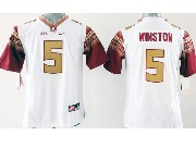 Youth Ncaa Nfl Florida State Seminoles #5 Winston White (gold Number) Jersey
