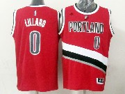 Mens Nba Portland Trail Blazers #0 Lillard Red (portland) Jersesy (p)