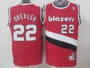 Mens Nba Portland Trail Blazers #22 Drexler Red (blazers) Hardwood Throwback Jersesy