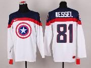 Mens nhl captain america #81 kessel white Jersey