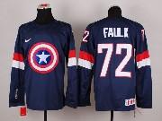 Mens nhl captain america #72 faulk blue Jersey