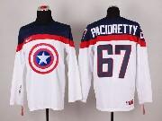 Mens nhl captain america #67 pacioretty white Jersey