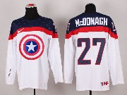 Mens nhl captain america #27 mcddnagh white Jersey