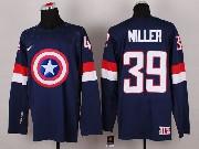 Mens nhl captain america #39 miller blue Jersey