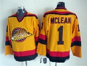 Mens nhl vancouver canucks #1 mclean yellow throwbacks Jersey