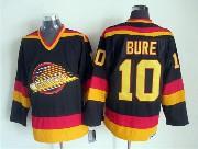 Mens nhl vancouver canucks #10 bure black throwbacks Jersey