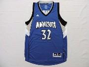 Mens Nba Minnesota Timberwolves #32 Towns Blue Revolution 30 Jersey (p)