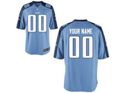 Nfl Tennessee Titans Custom Made Light Blue Light Blue Color Rush Limited Jersey