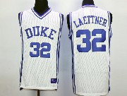 Mens Ncaa Nba Duke Blue Devils #32 Laettner White Jersey