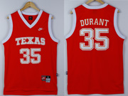 Mens Ncaa Nba Texas Longhorns #35 Durant Red Jersey
