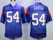 Mens Nfl Movie Mountain State #54 Castle Blue Jersey