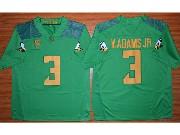 Mens Ncaa Nfl Oregon Ducks #3 V.adams Jr Green (gold Number) Jersey