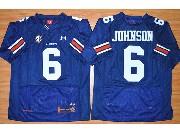 Mens Ncaa Nfl Auburn Tigers #6 Johnson Dark Blue Elite Jersey
