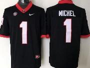 Mens Ncaa Nfl Georgia Bulldogs #1 Michel Black Sec Limited Jersey