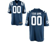Nfl Indianapolis Colts Custom Made Blue Color Rush Limited Jersey