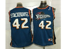 Mens Nba Detroit Pistons #42 Jerry Stackhouse Blue Mesh Jersey