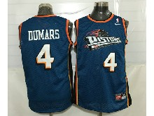 Mens Nba Detroit Pistons #4 Joe Dumars Blue Mesh Jersey