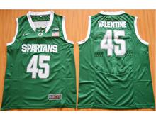 Mens Ncaa Nba Michigan State Spartans #45 Denzel Valentine Dark Green Jersey